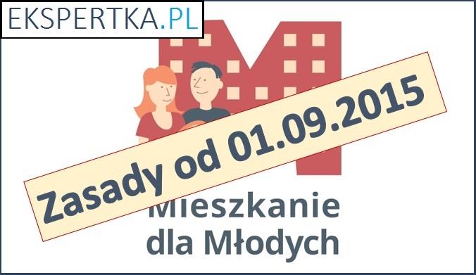 Zasady programu Mieszkanie dla Młodych od dnia 01.09.2015